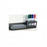 Pen and board eraser holder for whiteboard.
